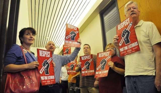 Adjuncts activists at Rutgers University
